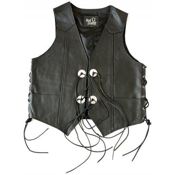 Pánská kožená vesta konča  ce676d03e88