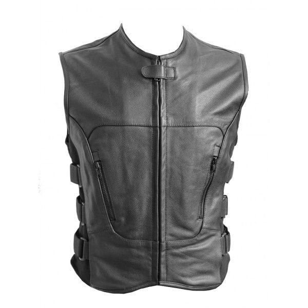 Kožená vesta se suchým zipem  ce0163598b1