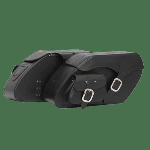 Kožené moto brašny TechStar Chopper s kapsou bez zdobení 979605e0e0