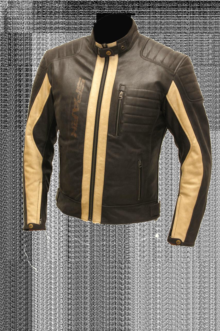 Pánská kožená bunda Spark Hector hnědá  3d204203d93